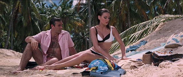 Thunderball is one of the most ponderous and slow-moving 007 movies, but it makes up for it in eye candy. It's got the best assortment of Bond girls, from a leading lady who's still the finest-looking Bond girl (Claudine Auger) to a Bond girl who can actually act (Luciana Paluzzi).