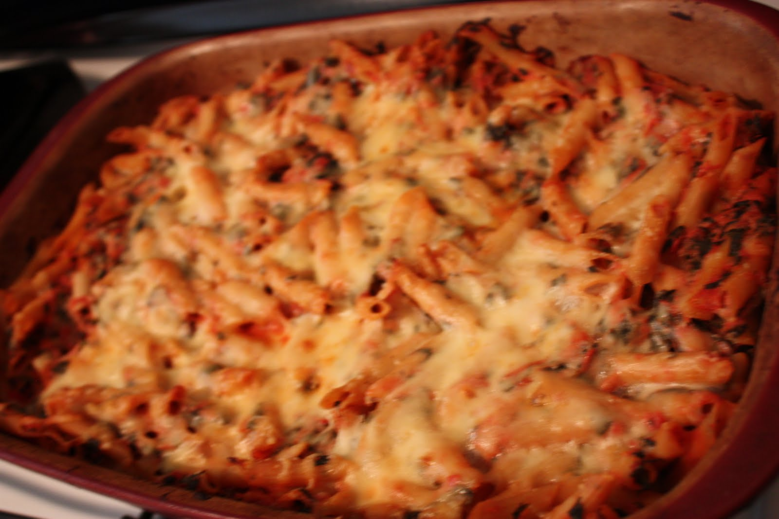 Skinny Eating: Baked Ziti with Spinach