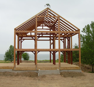 lake ontario timber frame home