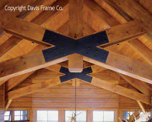 scissor timber frame truss