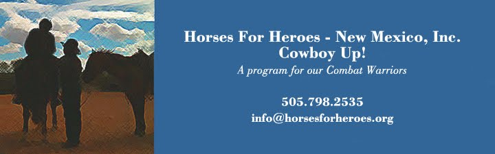 HORSES FOR HEROES New Mexico - Cowboy Up!   505-798-2535