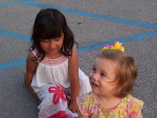 Sarah playing with her friend Lydia.