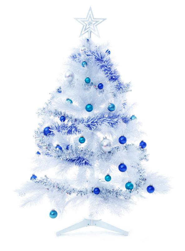 White christmas tree the christmas - White and blue christmas tree ...