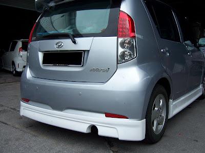 2009 Wald Toyota Alphard. MYVI ( WALD ) REAR SKIRT