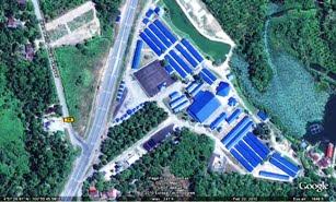 Pandangan Kem dari satelit
