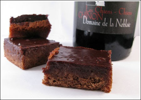 Dying for Chocolate: Chocolate Wine Brownies