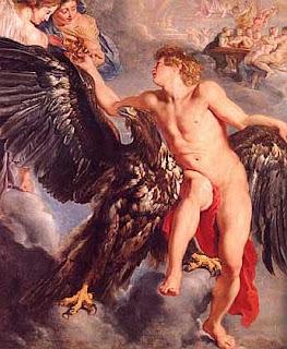 El rapto de Ganimedes, Rubens