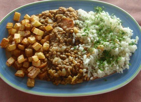 Recetas con legumbres - Lentejas con costillas y patatas ...