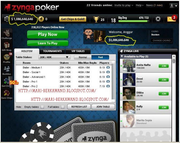 Tempat jual chip poker zynga