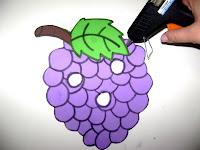 Pegue Os Moldes Risque No EVA Da Cor Correspondente A Fruta