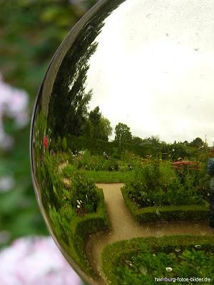 Kugel, Park, Hamburg, Reflektion, Botanischer Garten