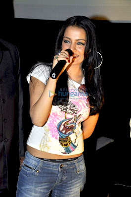 Celina Jaitly and Sherlyn Chopra promote IPL 2010 image