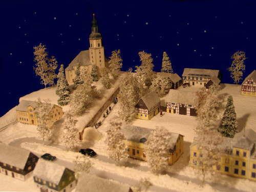 Matin lumineux petit village en papier - Fabriquer un village de noel en carton ...