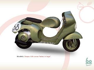 """Vespa 125, vespa 125corsa """"telaio in relief"""", vespa 125 Corsa circuit"""