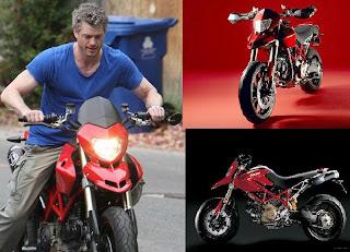 movie star Eric Dane Addicted to Ducati Hypermotard