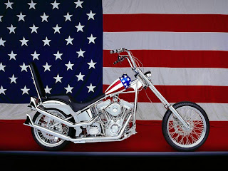 Custom motorbike harley amerika flag
