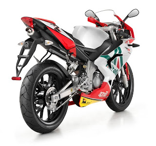 review aprilia racing motorbike type RS 50