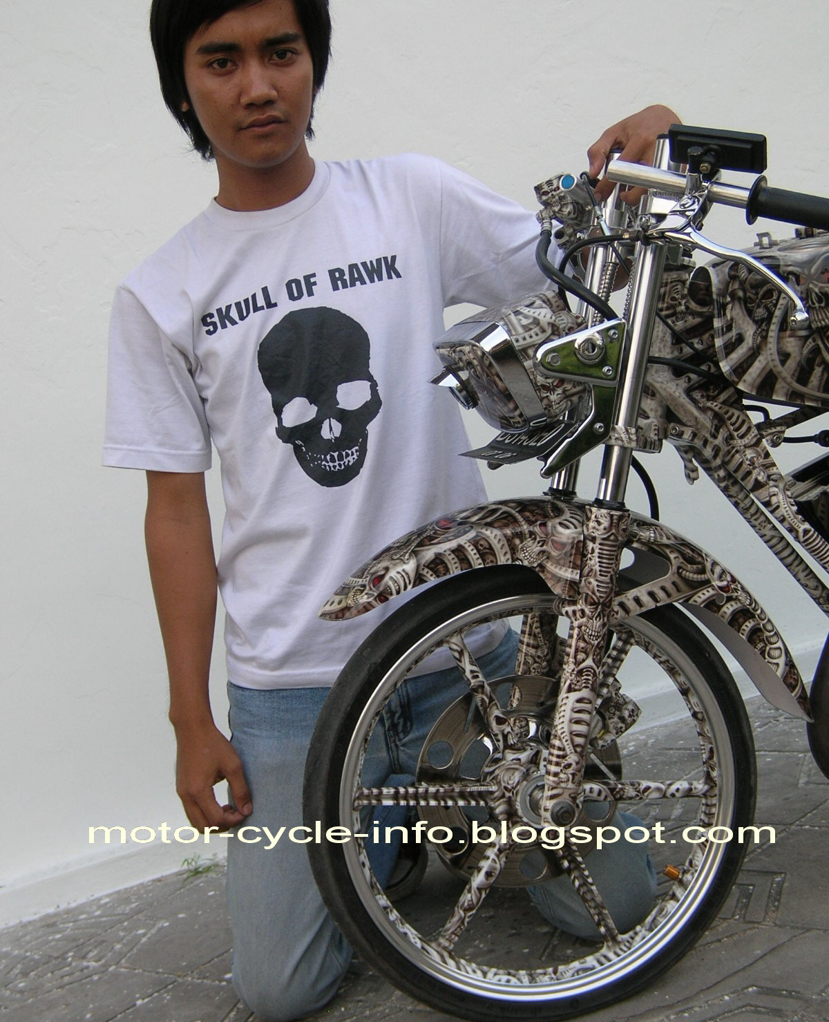 foto rx king air brush skull modifikasi yamaha