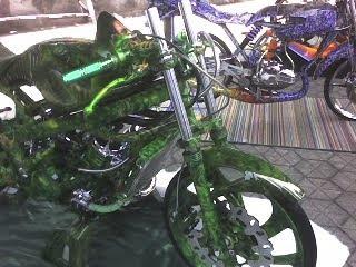 kawasaki green clour ninja airbrush motor contest
