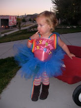 I made and designed Lillee's Rainbow Bright Costume but she would not wear the wig so sad...
