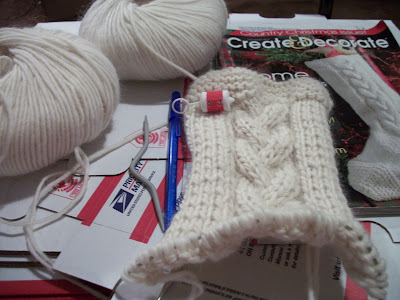 Free Knitting Pattern: Personalised Christmas Stocking