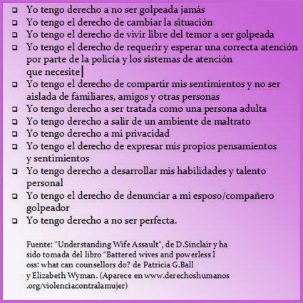 Acta de los derechos de la Mujer Maltratada.
