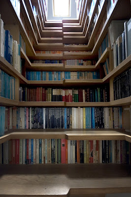 The Bookcase Staircase @ sweetassugarman.blogspot.com