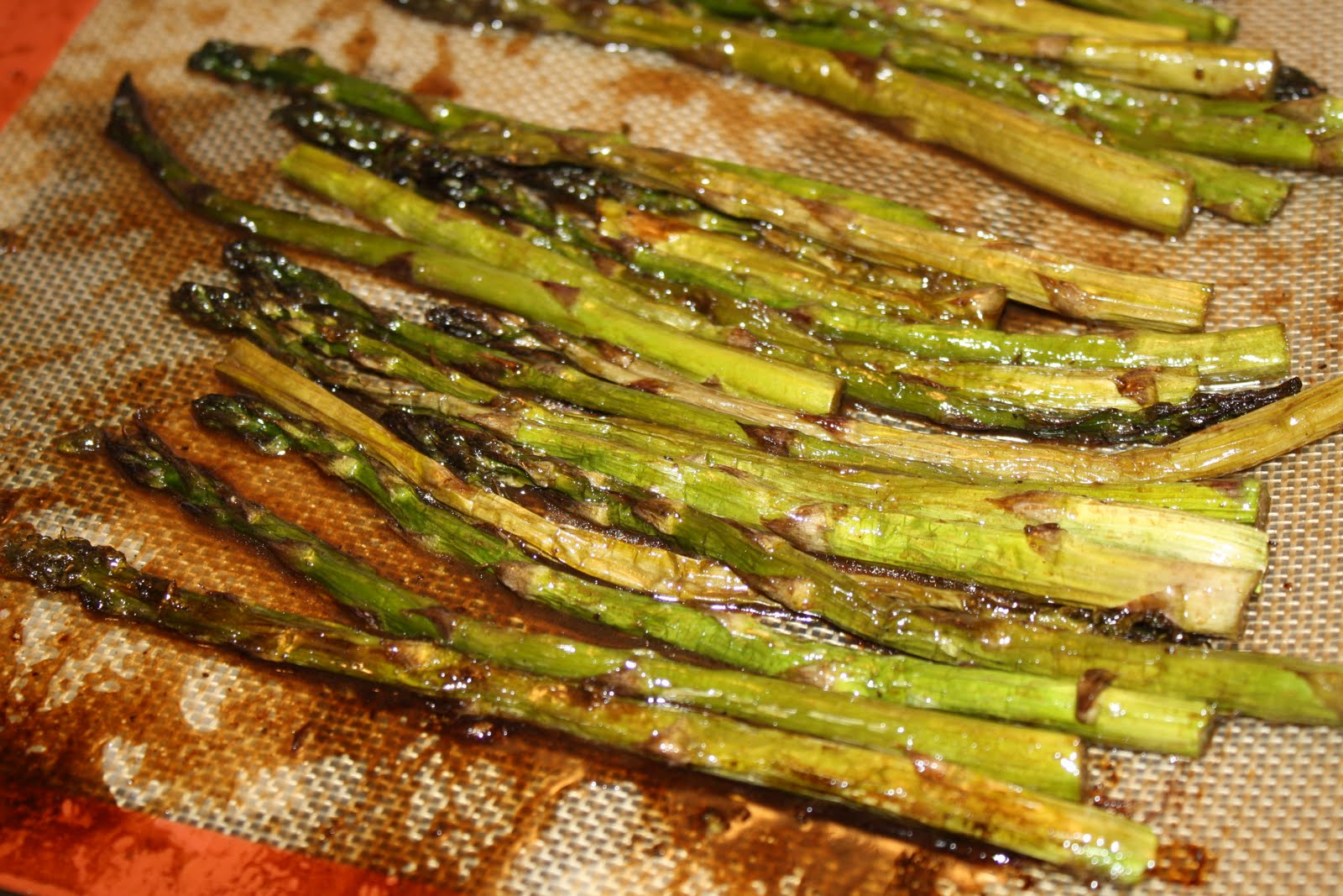 Seasoned with Love: Roasted Asparagus with Balsamic Butter Sauce