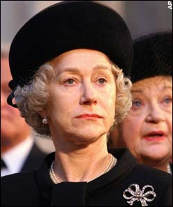 Helen Mirren as the Queen