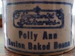 Polly Ann baked beans crock