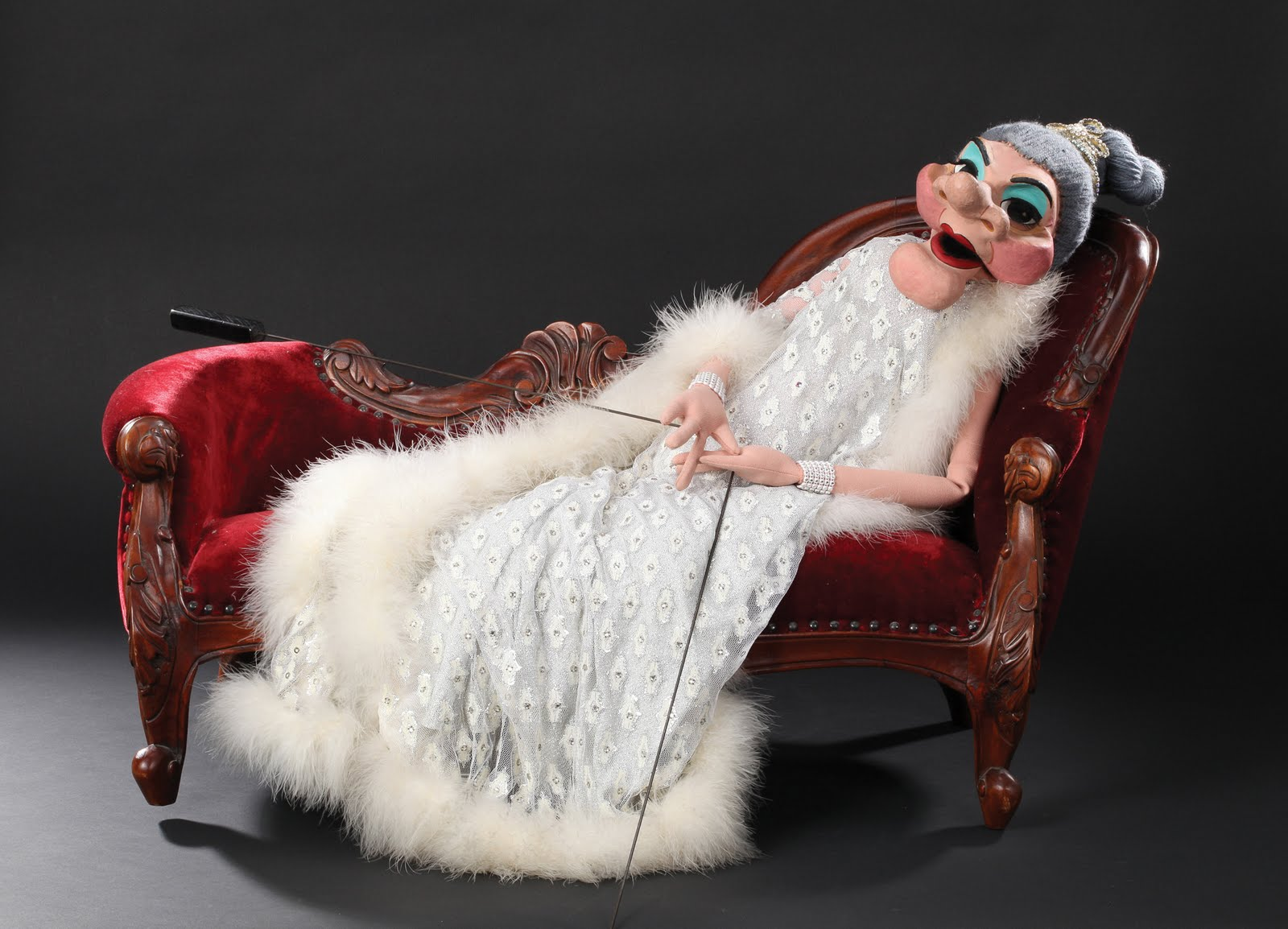 Wayland flowers madame puppet with fainting couch and flowers