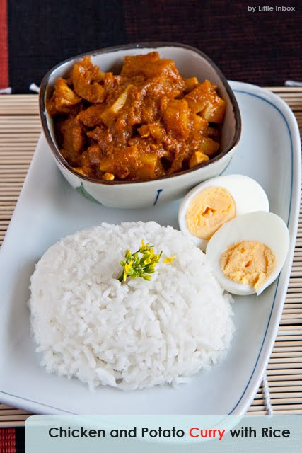 Chicken and Potato Curry With Rice by Little Inbox Recipe ~Eating ...