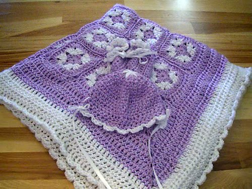 Purple Baby Blanket with Cap  Booties 01 medium ALL FREE GAY PORN