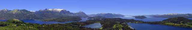 panoramica+bariloche Cross the Andes mountains via the lakes