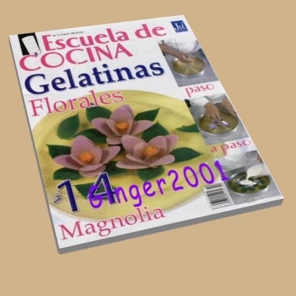 Escuela de cocina n 14 gelatinas florales libros for Curso de cocina pdf