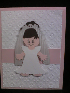 Cricut 1st communion card