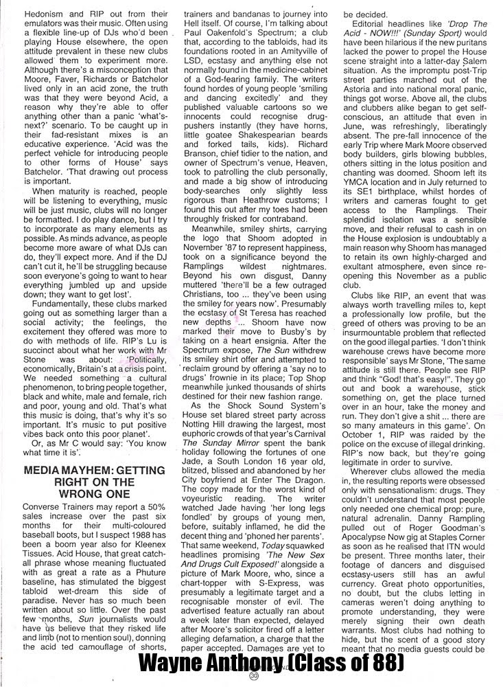 The history of acid house house 39 88 paradise glimpsed 1989 for Acid house history