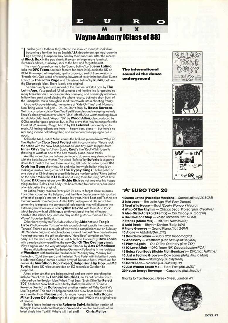 The history of acid house italian house history jocks for Acid house 1989