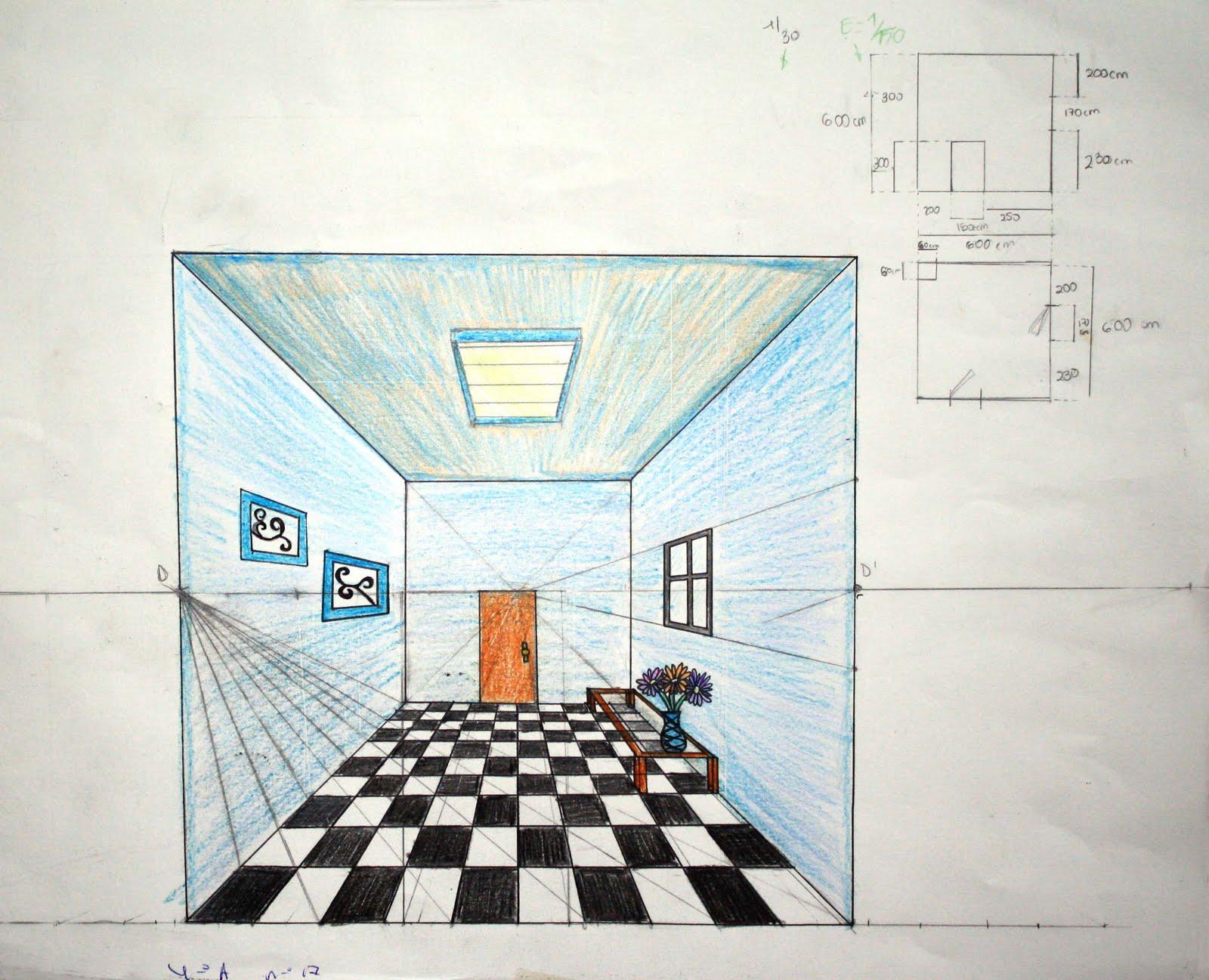 Epv colegio san jos dominicas perspectiva c nica 4 eso - Habitacion en perspectiva conica ...