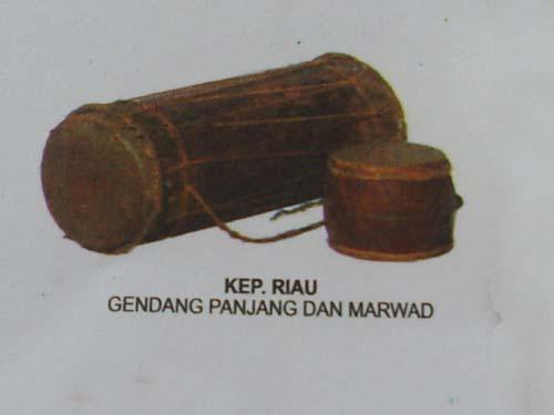 Gendang adalah instrumen Riau yang salah satu fungsi utamanya