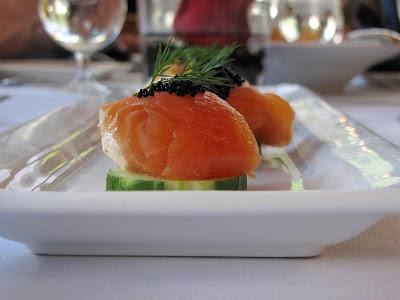 Salmon appetizer Chai's Island Bistro Honolulu Mark