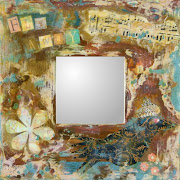 Fly away birdie....Encaustic/mixed Mirror 10x10
