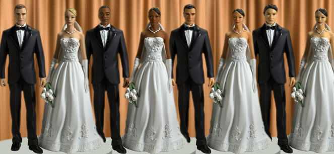 Multiracial Cake Toppers