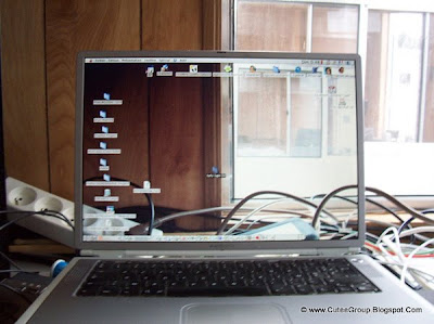 Transparent screen powerbook