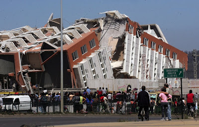 Earthquake in Chile( a devastating magnitude 8.8-one of the strongest earthquakes ever recorded)