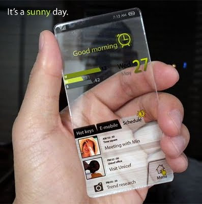 Superior Hi-Tech Transparent Mobile Phone