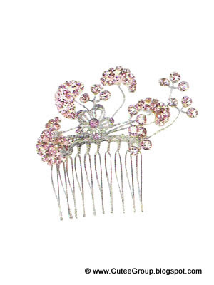 Beautiful Crystal Hair CombBeautiful Crystal Hair Comb