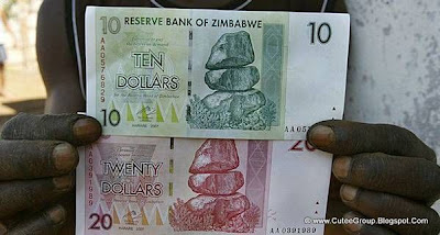 In August, the government devalued Zimbabwe dollar by removing 10 zeros from notes.