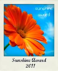 Premio Sunshine Awards - Ricevuto nel Gennaio 2011 !