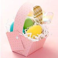 Canasta Con Huevos De Pascua